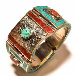 Fashion Tibetan Antique Bronze Vintage Bangle Bracelet for Women