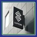 Standard Aluminum Wall Signage, For Outdoor, Shape: Rectangle