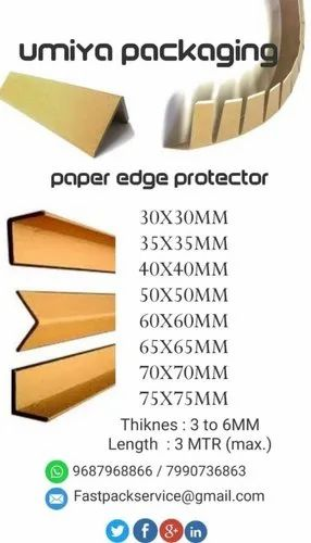 UMP L Type Edge Protector Paper Angle Boards, Packaging Type: Bundle
