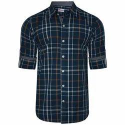 Cotton Full Sleeves Check Shirt