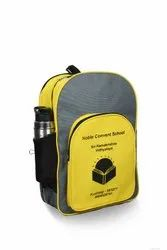 Grey And Yellow School Bag