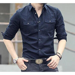 Plain Mens Formal Cotton Shirt