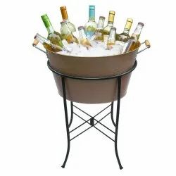 Galvanized Copper Beverage Party Tub With Iron Stand