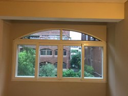 Sliding And Openable White & Off White UPVC Arched Window, Size/Dimension: As Par Site
