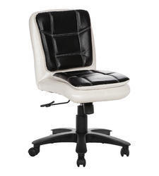 Workstation White and Black Chair