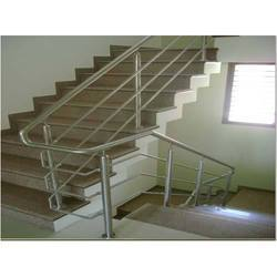 Straight Run Commercial SS Stair