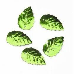 Green Leaf PVC Sequins