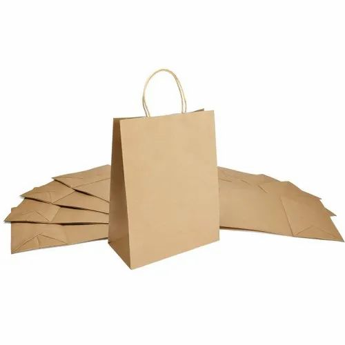 Brown Craft Paper Carry Bag