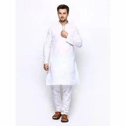 White Long Trendy Kurta Pajama