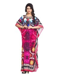 Digital Printed Women''s High Quality Satin Silk Kaftan Kurta