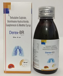 Terbutaline Sulphate, Guaiphenesin, Bromhexine Hydrochloride and Menthol Syrup