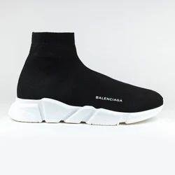 Men's Black and White Sneaker Shoe, Size: 41-45