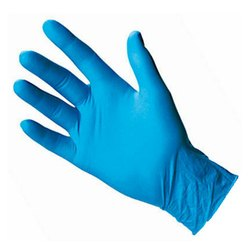 Non-Powdered Blue Nitrile Examination Gloves