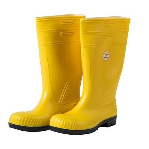 hot sales 9c26b 68c64 Synthetic Leather Yellow Rubber Safety Boots