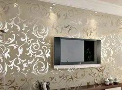 Pvc Golden Vertical Wall Paper Size 21 Inch X 10 Meter