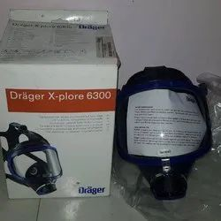 Silicon Rubber Safety Drager Breathing Air Mask, Medium, Model Name/Number: X-plore 6300