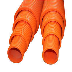 Orange HDPE DWC Pipe, Thickness: 4 To 10 Mm