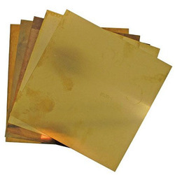 Chrome Brass Sheets, Square, 3-5 Mm