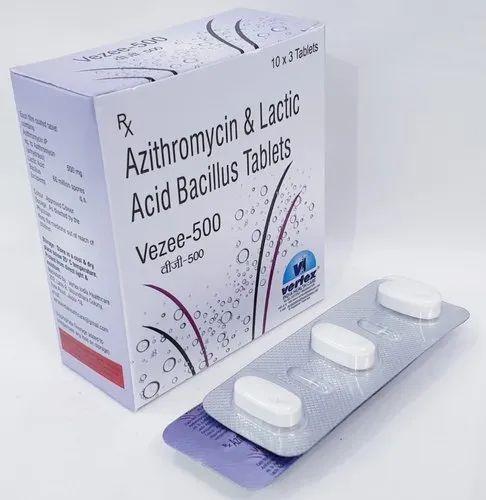Azithromycin 500mg & Lactic Acid Bacillus Tablets