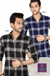 Black And Blue Check Mens Shirt
