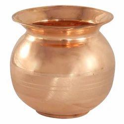 Plain Copper Pooja Lota, For Home,Temple, Capacity: 200-250 Ml