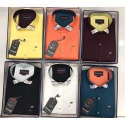 Variation Cotton Collar Plain Shirt, Size: M and XXL