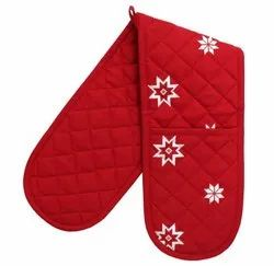 Christmas Red Double Oven Glove