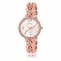 Lorem Rose Gold Diamond Watch, Metal Heavy Fancy Bracelet Watch, Lr0215