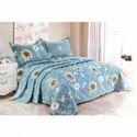 Flower Printed Designer Double Bed Sheet