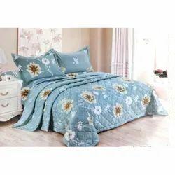 Flower Printed Designer Double Bed Sheet