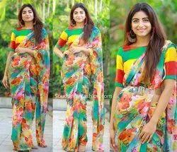 Flower Printed Designer Ladies Sarees