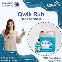 Qwik Rub - Lotus Chemie Hand Sanitizer (80% Alcohol)
