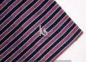 Indian Dabu Multi Color Cotton Stripe Block Print Fabric