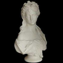 White Marble Half Lady Bust Statue