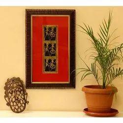 Brass Multicolor Bastar Dhokra Art Frame