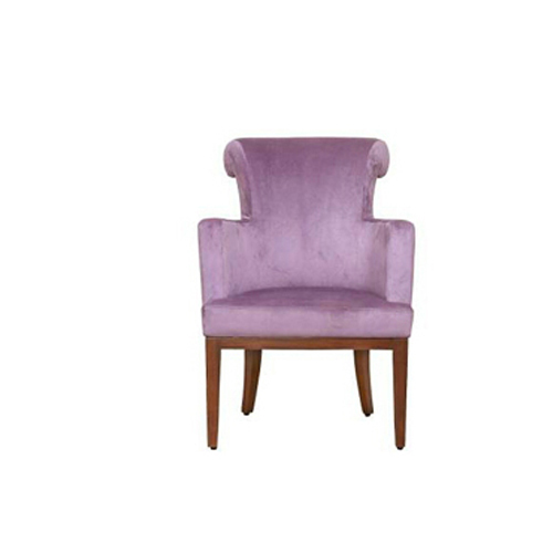 Wooden And Fabric Purple Lounge Chair, Size: 2 3 Feet