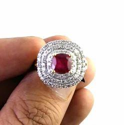 Ruby 14 k Gold Diamond Ring