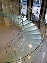 Curved Glass Staircase
