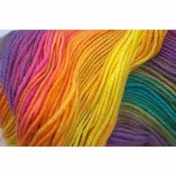 2 ply Dyed Rainbow Yarn for Knitting, Packaging Type: Bundle