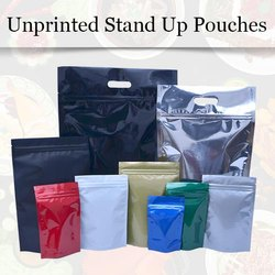 Unprinted Stand Up Pouches