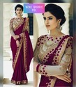 Chinnon Silk Embroidered Party Wear Sarees