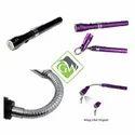 360 Degree Flexible LED Flashlight Magnetized Head Telescopic 3 LED Torch Flashlight Magnetic Pick u