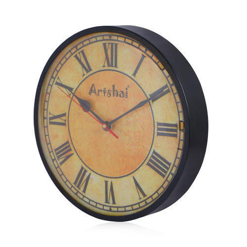 10 Inch Antique Look Round Og Metal Wall Clock