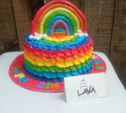 Rainbow Cake At Rs 1200 Piece