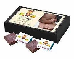 Rectangular Birthday Invitation Custom Chocolate