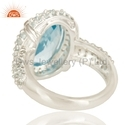 Blue Topaz Gemstone Sterling Silver Ring