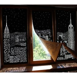 Black Mat Modern Window Blinds