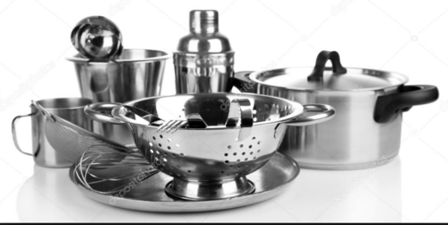 Silver Good Stainless Steel Kitchenware, For For Kitchen, Rs 275 /kilogram  | ID: 19852130088