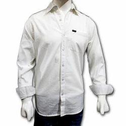 TOGSUN Plain White Cotton Shirt