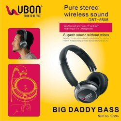 d495af2c0d1 Black Over The Head Ubon GBT-5605 Wireless Headphone